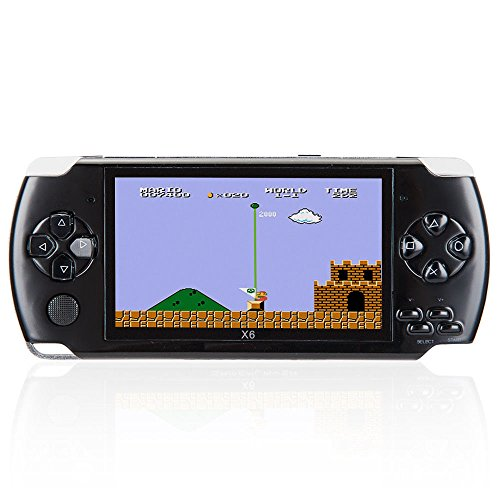 Handheld Game Console, 8GB 4.3 Inch Handheld Game Console with 1000 Classic GBA Games, Support Video & Music Playing, Built-in 3M Camera