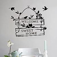 QHDZ Welcome Home' Jolie Maison Stickers muraux pour la décoration