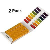 PUBAMALL 80 tiras de papel para medir los papeles indicadores de prueba de pH (2 PAQUETES)