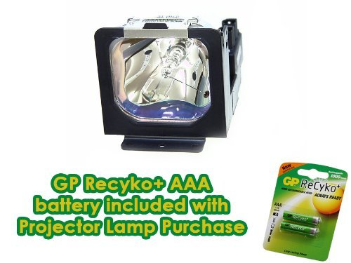 Price comparison product image Canon LV-LP10 Projector Lamp Replacement - Premium DS Miller Project Lamp with FREE GP Recyko AAA Rechargeable Batteries