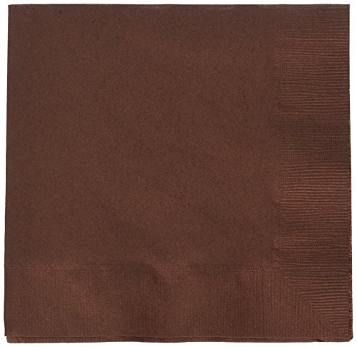 Chocolate Dinner Napkins Brown - Chocolate Brown 2-Ply Luncheon Napkins | Pack of 50 | Party Supply