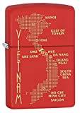 Zippo Lighter: Vietnam War Map - Red Matte