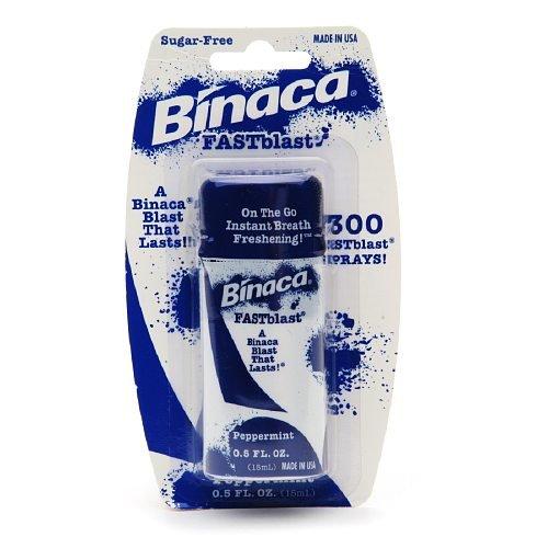 Binaca Fastblast Breath Spray Peppermint-0.5 fl. oz. (6