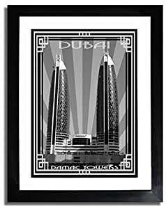 Photo of Damac Tower-Black And White With Silver Border F07-M (A1)
