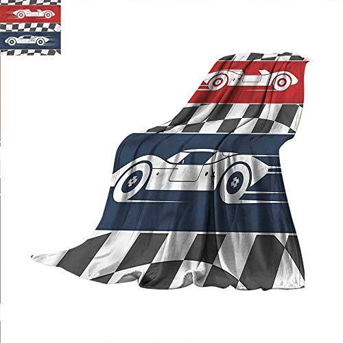 Boys Room Throw Blanket Cars Logo Flag Winner Velvet Plush Throw Blanket 60