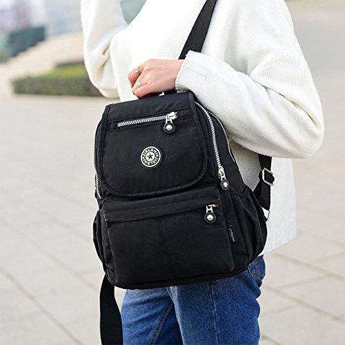 de Lona mujer mochila BUY negro Bolso SUNRAY para HfIqtgnw