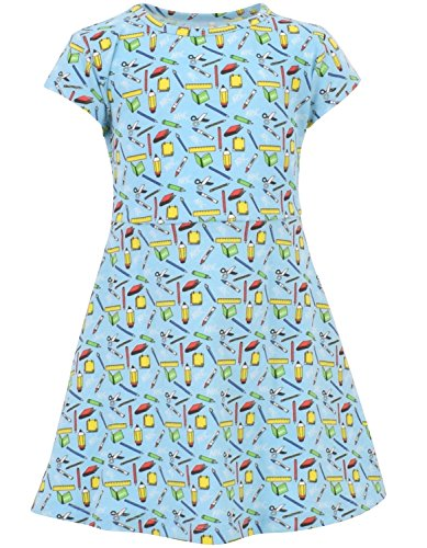 Unique Baby Girls Back to School Dress (6, Blue) by Unique Baby