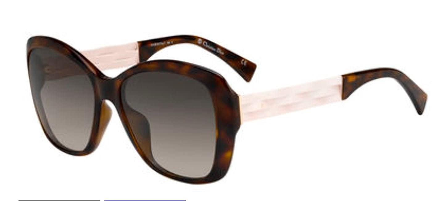 d1e7d154d19 Amazon.com  New Christian Dior Ribbon 1N 0S5M HA Havana Pink Sunglasses   Clothing