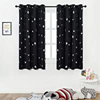 [EASTER DAY]Blackout Curtains with Silver Star Print for...