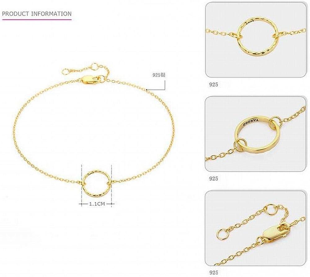 LOt Bangles Bracelets S925 Silver Round Bracelet Womens Simple Gold Geometric Bracelet