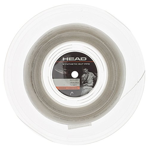 Head Synthetic Gut PPS Tennis Racket String 200m Reel - 17 Gauge Multifilament Racquet String, White