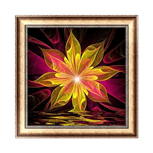 Flower Paradise Diamond (Buybuying 5D Diamond Embroidery Abstract Flower Painting DIY Cross Stitch Craft Decor Gift)