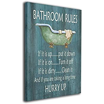 "Amazon.com: Bathroom Etiquette 12"" X 16"" Poster: Office ..."