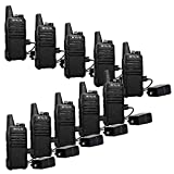 Retevis RT22 Two Way Radios License-free Rechargeable Walkie Talkies 16 CH VOX Channel Lock Emergency Alarm 2 Way Radio(10 Pack) and Programming Cable