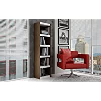 Manhattan Comfort Parana 2.0 Series 5 Shelf Bookcase in Tobacco White