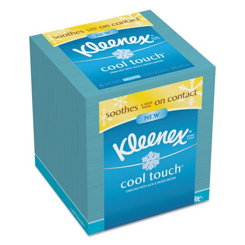KIMBERLY-CLARK PROFESSIONAL* Cool Touch Facial Tissue, 3 Ply, 50 Sheets per Box, 27 per Carton - Includes 27 packs of 50 each.
