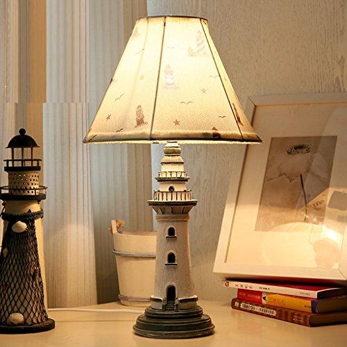 Kindertischlampe amerikanische pastoralen Landschaft Mittelmeer Schlafzimmer Studie Nachtnachtlicht Leuchtturm Geburtstagsgeschenk