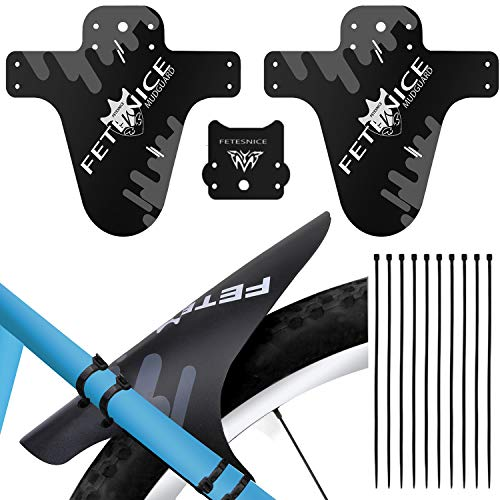 Mountian Bike Fender, MTB Mudguard, Front and Rear Compatible, Cycling Fender Fits 26