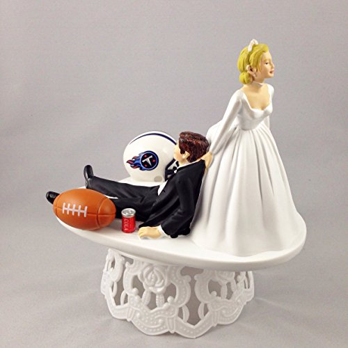 Funny Wedding Cake Topper Tennessee Titans Football Themed Can Be Personalized with Your Favorite NFL Team