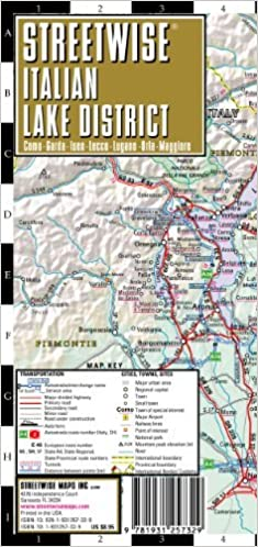 by streetwise maps streetwise italian lake district map