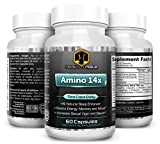 Amino 14x - Energy, Memory and Mood Enhancing - Increases Libido & Sexual Stamina - Natural Sleep Formula and Immune System Booster Featuring Tribulus Terrestris, Panax Ginseng, Arginine...