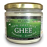 MT. CAPRA SINCE 1928 Goat Milk Ghee | Grass Fed Clarified Butter High in MCT Oil Perfect for Bulletproof Coffee, Keto, Paleo, and Whole 30 Diets | Pasture Raised and Unsalted - 10 fl oz