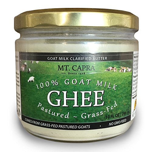 - MT. CAPRA SINCE 1928 Goat Milk Ghee | Grass Fed Clarified Butter High in MCT Oil Perfect for Bulletproof Coffee, Keto, Paleo, and Whole 30 Diets | Pasture Raised and Unsalted - 10 fl oz