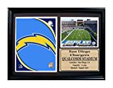 Encore Select 116-51 NFL San Diego Chargers Photo Stat Frame with Two Images and Plaque, 12-Inch by 18-Inch