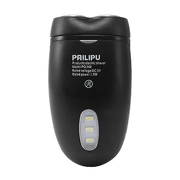 Hombres sin cuerda eléctrica afeitadora afeitadora barba pelo Clipper con pilas multifuncional de doble cabeza con iluminación LED: Amazon.es: Salud y cuidado personal