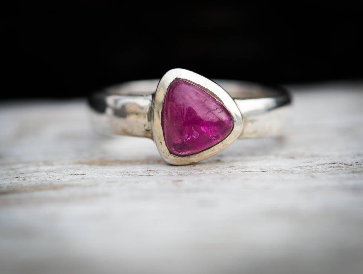 Amazon com: Pink Tourmaline Silver Ring, Metaphysical