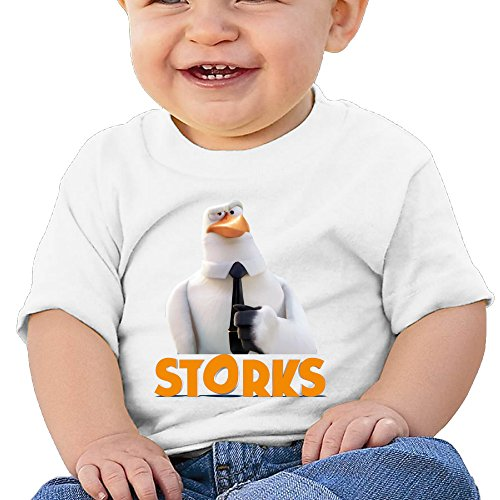 Boss-Seller Storks Short-Sleeve T-srhits For 6-24 Months Newborn Baby Size 12 Months White
