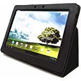 Folding Cover Case with Stand for Asus Eee Pad Transformer 10.1-Inch Android Tablet (TF101 Sleeve) Black