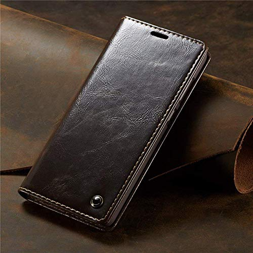 Excelsior Premium Leather Wallet Flip Case Cover Compatible with Apple iPhone Xs Max 6.5 Inch  Brown