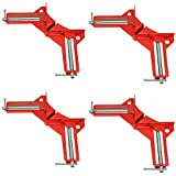 4pcs 90 Degree Right Angle Miter Corner Clamp 3' Capacity Picture Frame Jig Tool