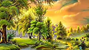 Samexpress Nature Solid Wood Portrait 50X70 cm Wall Hang Art - 2724767263987