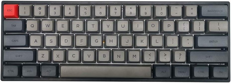 SK61 Black Bluetooth 5.1 NKRO Gateron Optical Axis RGB Backlight Wireless Wired Dual Mode Mechanical Gaming Keyboard (61 Keys, Gateron Blue Switch)