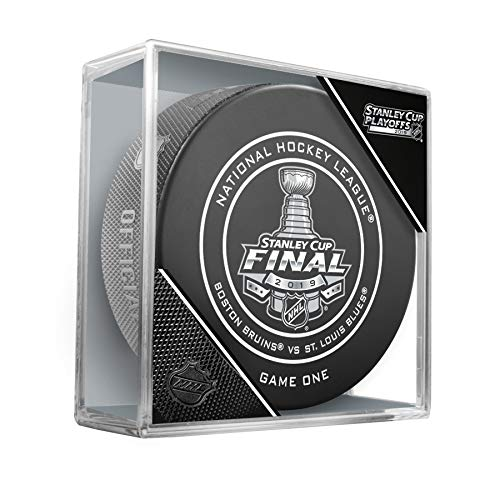 Stanley Cup Official Game - 2019 Stanley Cup Finals Game #1 (One) Boston Bruins vs. St. Louis Blues Official Game Hockey Puck Cubed
