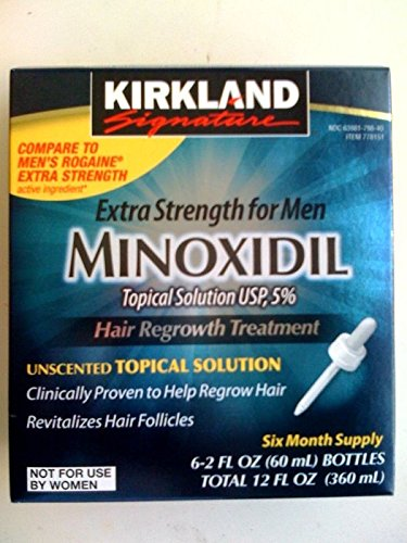 12 Months Supply - Kirkland Minoxidil 5% Topical Solution Mens Hair Regrowth by Hair Care & Styling