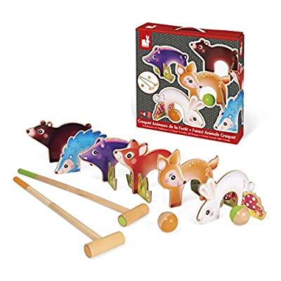 Janod Forest Animals Croquet: Toys & Games