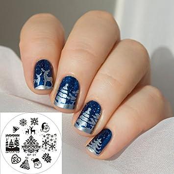 nail art stamping bild metal platte nail art design muster vorlage weihnachten ap01 fashionlife - Nailart Muster