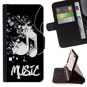 - Music Pattern/ Personalizada del estilo del dise???¡Ào de la PU Caso de encargo del cuero del tir????n del soporte d - Cao - For HTC One M9