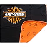 HARLEY-DAVIDSON Baby Receiving Blanket - Orange & Black