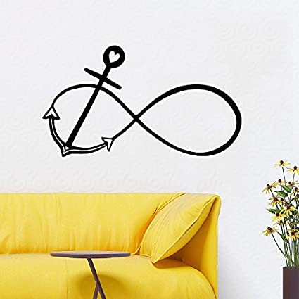 Dnven Black 35w X 22h Anchors Infinity Symbol Bedroom Wall Decal