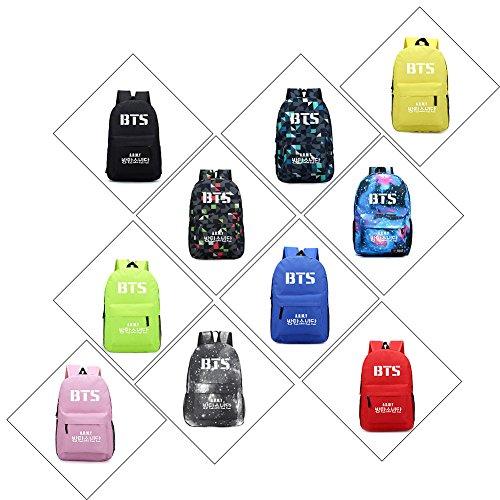 Kingmia BTS Bangtan Boys Rucksack Daypack 3D Digital Gedruckt Leinwand Schulter Rucksack Laptop Notebook Rucksack Verursacht Handtasche für Die Reise Schule Rot 2