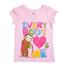 Girls' Everybody Loves Me Pink Girls T-Shirt, 2T