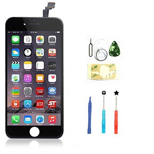 Replacement LCD Display Touch Screen Digitizer Assembly for 4.7' iPhone 6 Black with tools
