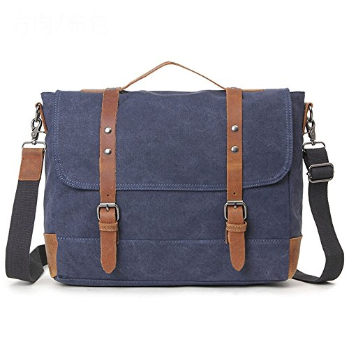 Messenger Casual Shoulder Bag Strap Khaki Lppff Blue Business School Briefcase color PdnqX