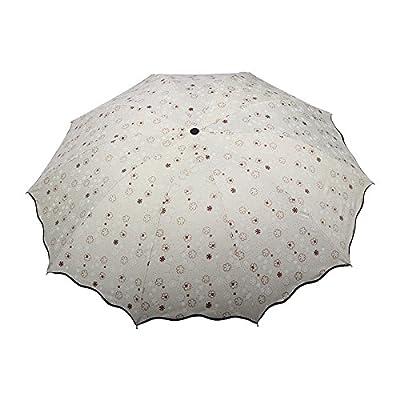 KHSKX-Élargie Et Renforcée Pour Les Petites Créatrice Nouvelle Double Parapluie Noir Ombrage Solaire Uv Qui Colle Trois