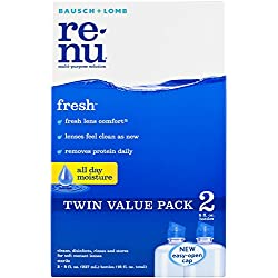 ReNu Fresh Multi-Purpose Contact Lens Solution, 8 fl. oz.(Pack of 2)