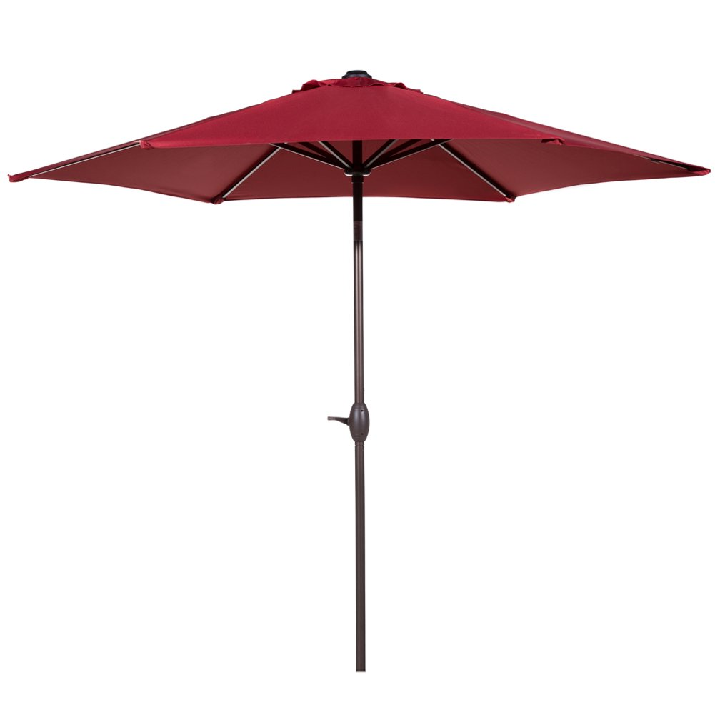Charming Abba Patio 9 Ft Market Outdoor Aluminum Table Patio Umbrella With Push  Button Tilt And Crank, Red